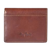 Tony Perotti Credit Card Wallet with Banknote Pocket Brown