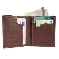 Tony Perotti Slim Vertical Billfold with banknote and coin pocket...