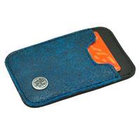 MoreThanHip Slim - miniportemonneetje van autoband en ecoleer - blauw