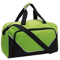 Sporttas/reistas lime groen/zwart 29 liter Multi