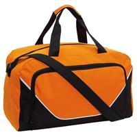 Sporttas/reistas oranje/zwart 29 liter Multi