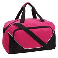 Sporttas/reistas roze/zwart 29 liter Multi