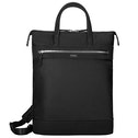 Targus Newport Convertible 2-in-1 Tote and Backpack Trendy for Travel and Commuter fit up to 15-Inches Laptop, Black/Silver (TBB600GL)
