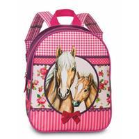 Paardenrugzakje Peuter Meisjes Roze