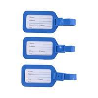 Bagagelabels - 3 Stuks - Kofferlabels - Blauw - Kunststof - Makkelijk Vast Te Maken