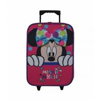 Minnie Mouse Bow Roze Trolley Kinderkoffer 41 X 43 X 15
