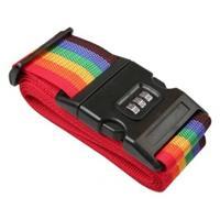 Kofferriem/bagageriem Met Cijferslot 200 Cm - Kofferspandband Regenboog Kleuren