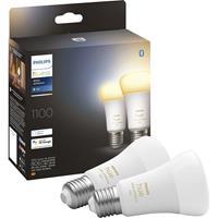 Philips Lighting Hue 871951429125600 LED-lamp (2 stuks) Energielabel: F (A - G) Hue White Ambiance E27 Doppelpack 2x800lm 75W E27 24 W Warmwit tot koudwit
