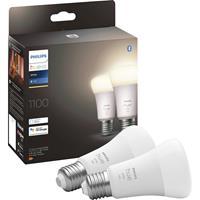 Philips Lighting Hue 871951428919200 LED-lamp (2 stuks) Energielabel: F (A - G) Hue White E27 Doppelpack 2x1050lm 75W E27 19 W Warmwit