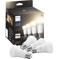Philips Lighting Hue 871951431914100 LED-lamp (4 stuks) Energielabel: F (A - G) Hue White E27 Viererpack 4x800lm 60W E27 36 W Warmwit