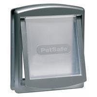 Petsafe kattenluik small zilver/transparant