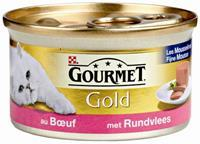 GOURMET Gold Mousse Rund kattenvoer 1 tray (24 blikken)