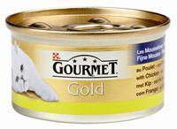 GOURMET Gold Mousse Kip kattenvoer 1 tray (24 blikken)
