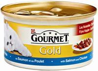 GOURMET Gold Zalm en Kip in saus kattenvoer 1 tray (24 blikken)