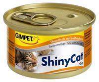 GIMPET ShinyCat in Jelly - Tonijn met Kip - 24 x 70 gram