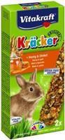 Vitakraft Dwergkonijn Honing Kracker 2 in 1 Knaagdiersnacks