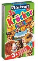Vitakraft Kräcker Trio-Mix Cavia Honing/Fruit/Nootkracker Knaagdiersnacks