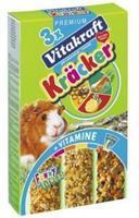 Vitakraft Kräcker Trio-Mix Cavia Honing/Groenten/Citrus Knaagdiersnacks