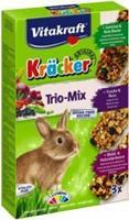 Vitakraft Kräcker Trio-Mix Dwergkonijn Noot / Bosvrucht / Groente Knaagdiersnacks