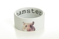 Beeztees Snapshot Hamster - Voerbak - 7,5X4 - Wit