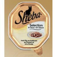 Sheba Selection Kip en Kalkoen in Saus Per 22