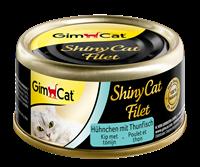 gimcat ShinyCat Filet - Kip met Tonijn - 24 x 70 gram