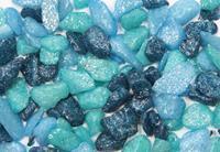 vdl Aquariumgrind Glamour 5-10 Mm - Aquarium - Siergrind - Blauw