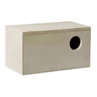 fauna Pet products houten broedkastje, recht model