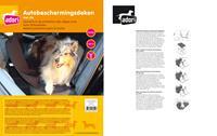 Adori Autobeschermingsdeken Met Rits - Hondenautoaccessoire - 145x150 cm Zwart