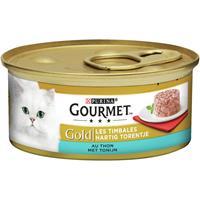 gourmet Gold Hartig Torentje Tonijn kattenvoer 1 tray (24 blikken)