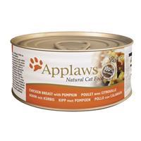 APPLAWS Blik Cat 70 gram KIPFILET & POMPOEN Kattenvoer