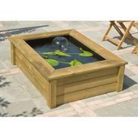 Ubbink Quadro 5 houten vijverombouw Wood 1