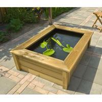 Ubbink Quadro 6 houten vijverombouw Wood 2