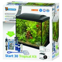 superfish Aquarium Start 30 Tropical Kit Retro Led 30 l - Aquaria - Zwart