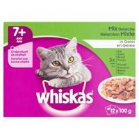Whiskas multipack pouch senior mix selectie vlees / vis in saus