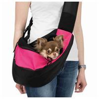 trixie Buikdrager Sling - Hondendraagtas - 50 × 25 × 18 cm Roze Zwart