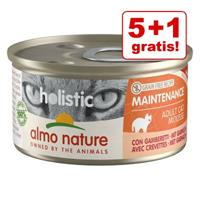 Almo Nature Holistic 5 + 1 gratis! 6 x 85 g  Maintenance - met tong