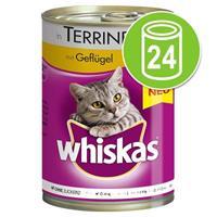 Whiskas 24 x 400 g  1+ Kattenvoer  Gevogelte in saus  kattenvoer