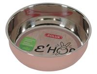 ZOLUX ehop voerbak inox rvs roze 400 ML 13 CM