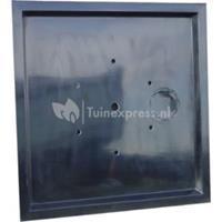 Express Afdekplaat polyester voor fonteinvijver vierkant - 110 x 110 cm