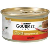 Gourmet Gold Hartig Torentje 85 g - Kattenvoer - Rund