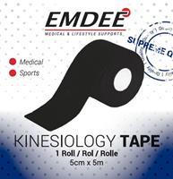 Emdee Kinesiology Tape Zwart Non Cut