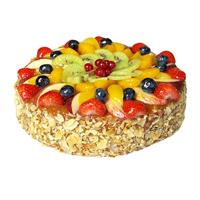 gefelicitaart Verse Vruchten taart