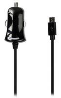 Micro-USB-autolader Micro USB male - 12V autoaansluiting 1,00 m zwart