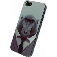 Xccess Metal Plate Cover Apple iPhone 5/5S/SE Funny Chimpanzee - Xcces