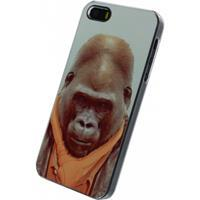 Xccess Metal Plate Cover Apple iPhone 5/5S/SE Funny Gorilla -