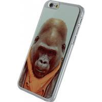 Xccess Metal Plate Cover Apple iPhone 6/6S Funny Gorilla -