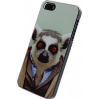Xccess Metal Plate Cover Apple iPhone 5/5S/SE Funny Lemur -