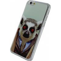 Xccess Metal Plate Cover Apple iPhone 6/6S Funny Lemur -