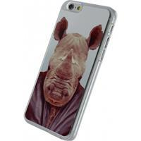 Xccess Metal Plate Cover Apple iPhone 6/6S Funny Rhino -